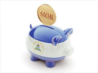Nicaragua Social Concept Piggy Concept