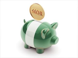 Nigeria Social Concept Piggy Concept