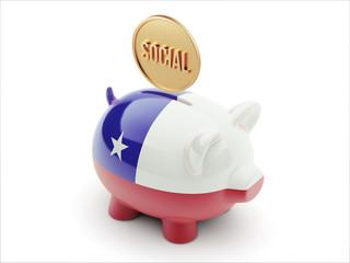 Chile Social Concept Piggy Concept