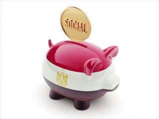 Egypt Social Concept Piggy Concept