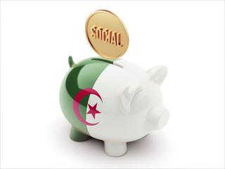 Algeria Social Concept Piggy Concept