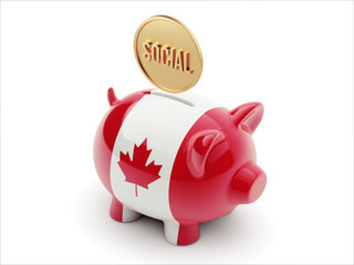 Canada Social Concept Piggy Concept