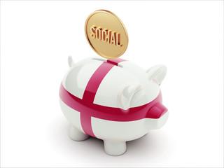 England Social Concept Piggy Concept