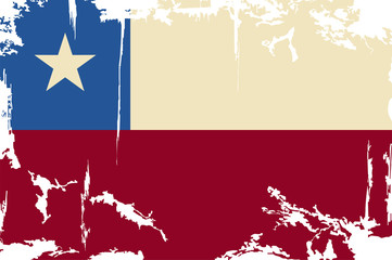 Chile grunge flag. Vector illustration
