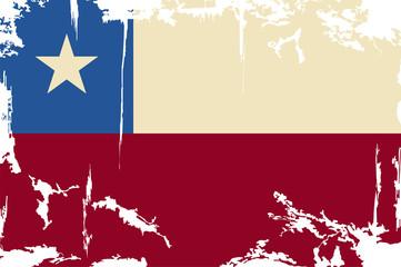 Chile grunge flag. Vector illustration