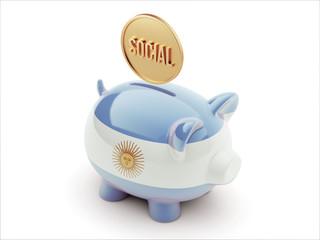 Argentina Social Concept Piggy Concept