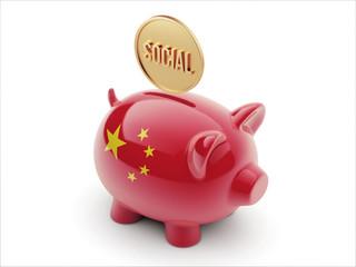 China Social Concept Piggy Concept