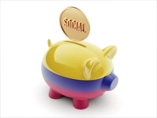 Colombia Social Concept Piggy Concept