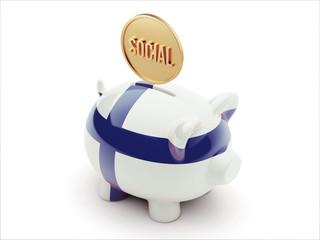 Finland Social Concept Piggy Concept