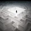 Tiny man in an endless maze