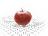 Apple bending spacetime