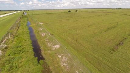 Aerial video farm land