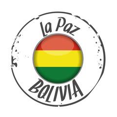 stamp La Paz, Bolivia