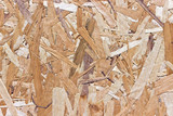 Wood chipboard yellow texture as background poster