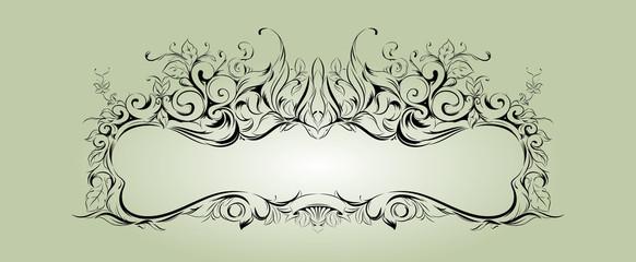 Vector frame with floral elements for registration 2