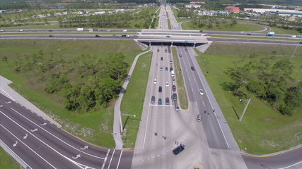 Aerial highway interchange