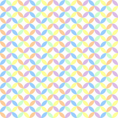 retro geometric circle background in pastel colors