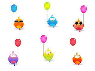 Birds and balloons