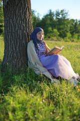 Beautiful lady relaxing