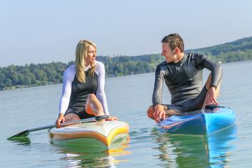 Flirt auf dem Wasser
