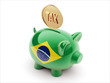 Brazil Tax Concept Piggy Concept