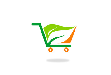 eco cart shop vector