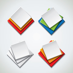 Blank special offer icons, banners