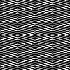 Black and white geometric square seamless pattern