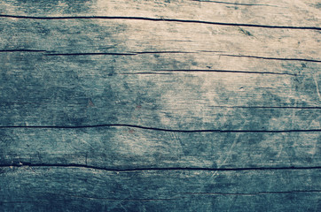 Vintage wooden table background, top view