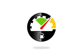 speed meter vector logo