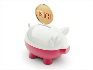 Poland Teach Concept Piggy Concept