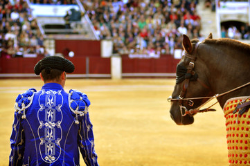 Bullfighters entering the bullring