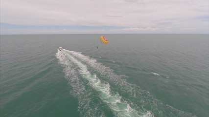 Aerial parasailing in Key West Florida