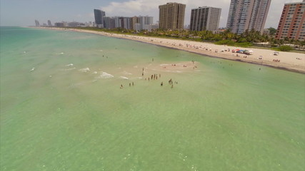 Miami Beach in the summer aerial video