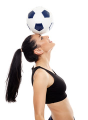 Young girl footballer