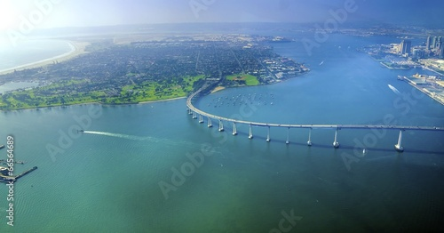 Poster Luchtfoto Aerial view of Coronado Island, San Diego