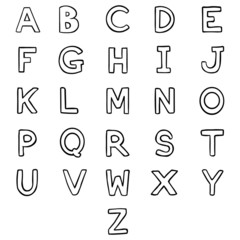 Vector Set of  Letters. Alphabet. ABC.