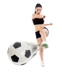 Young girl footballer