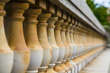 Old Stone Balustrade