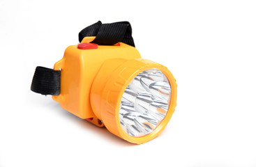 led flashlight isolated