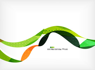 Colorful abstract flowing shapes