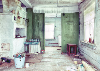 ruinous country house interior