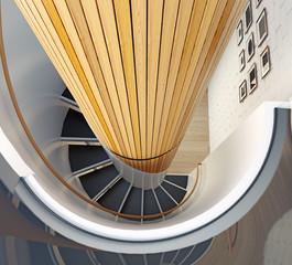 spiral staircase.3d concept