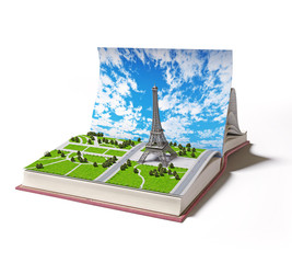 Paris  in the open book