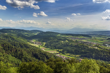 view from Uetliberg mountain, Zurich