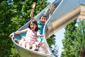 Kids in the slider