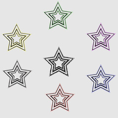set of colored stars