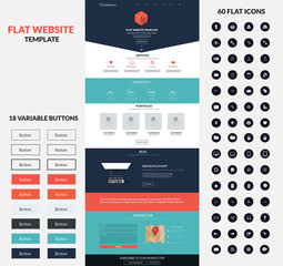Website interface template- one page