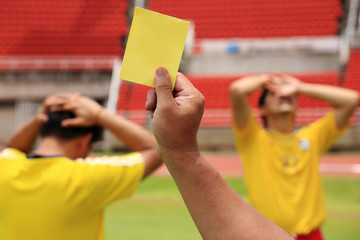 soccer Referee shoe yellow card