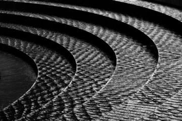 Abstract of a water feature in Darling Harbour, Sydney
